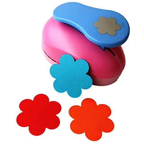 CADY Crafts Punch 3-Inch Paper Punches Craft Punches (Plum Flower)