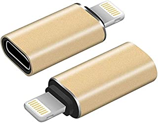 Converter from Android Type C to Lighting iOS Apple iPhone for Data Transmission and Fast Charging - Gold