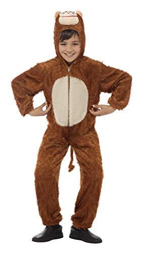 Smiffys Costume de singe, marron, comprend la combinaison pantalon avec capuche