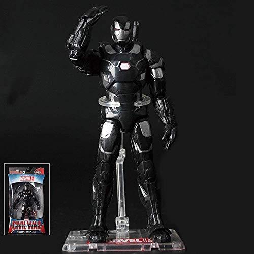 Hyzb Avengers Titan héroe de la Serie Juguetes - War Machine Poder FX Figura Figuras de acción Conjunta móvil con Soporte y de iluminación Negro Base (Color: Negro)