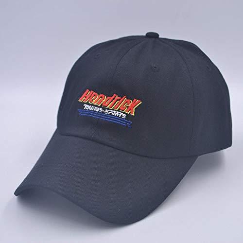 Daccy Sombrero Europeo Femenino y Letras Americanas Hendrick Soft Top Cap Primavera y el Verano Ocasional de la Gorra de béisbol del Visera Puede Personalizar