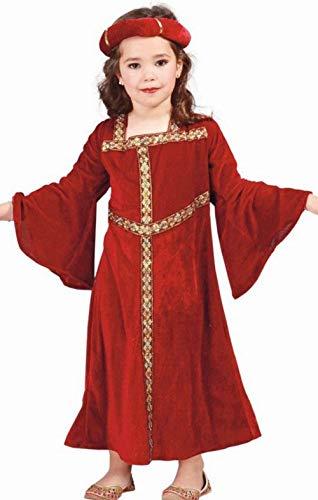 Guirca - Disfraz de Dama Medieval para niña, color rojo, 7-9 años, 81288