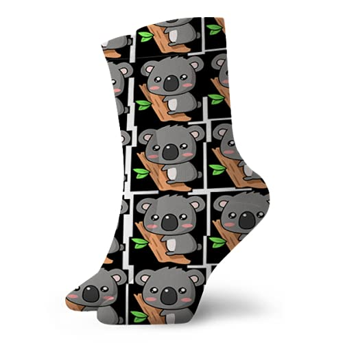Fodmua Lindo Koala Impresión Mens Senderismo Caminar Calcetines Amortiguación Crew Calcetines