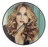 Générique Horloge Vinyle Madonna, Disque Vinyle 33 T, Vintage, Picture Disc, Record, Maxi Vinyl, Maxi 45, 12 inch, Album Vinyl, Noël, Anniversaire, Cadeau, HPD 0151a (Nero)