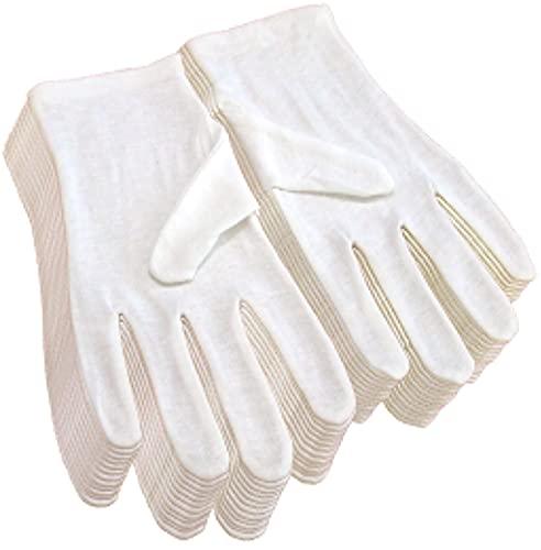 純綿100% コットン手袋 12双組 Lサイズ (男性用)