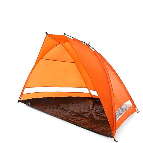 Campaña al aire libre Pop-Up Playa Playa Tienda sol sol refugio Playa Cabana Portátil Sombrilla Playa Sombra Camping Equipo de Camping Pesca Tent Tents Blackout Tienda Camping ( Color : Orange )