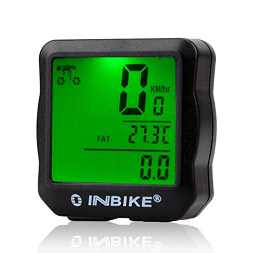 PETUNIA INBIKE Wired LCD Digital Bicycle Odometer Cycling Bike Computer Speedometer - Green