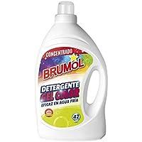 Brumol Detergente Gel Color, 42 Lavados - Paquete de 4 x 2770 ml - Total: 11080 ml