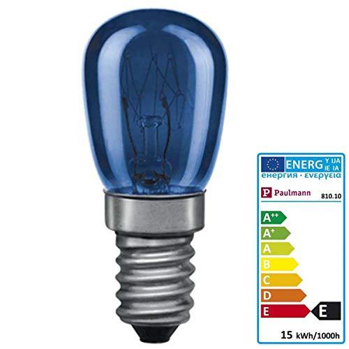 Paulmann 810.10 Glühbirne A-Form 15 W E14 E - Glühbirnen (A-Form, 15 W, E14, 20 lm, 1000 h, Blau)