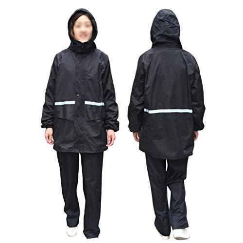 EWQG-Pfanne Regenponcho Hohe Sichtbarkeit Erwachsenen Regenjacke Arbeit Regenanzug Wasserdicht Atmungsaktiv Reflektierend Sicherheitsjacke mit Kapuze Regenbekleidung 1pcs -AA Schutz Overall