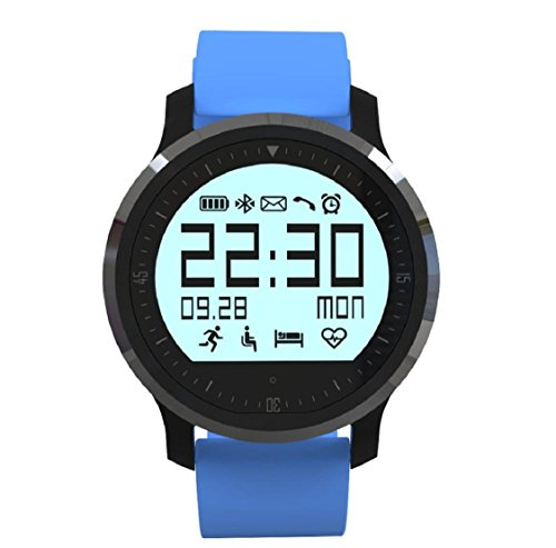 smartwatch sport Kolylong® Sportuhr Wasserdichtes Niveau IP 67 Bluetooth 4.0 Healthy Heart Rate Uhr Für Android IOS Smartphone (Blau)