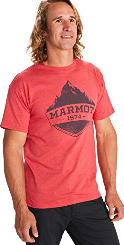 Marmot Mono Ridge T-Shirt, Red Heather, S Homme