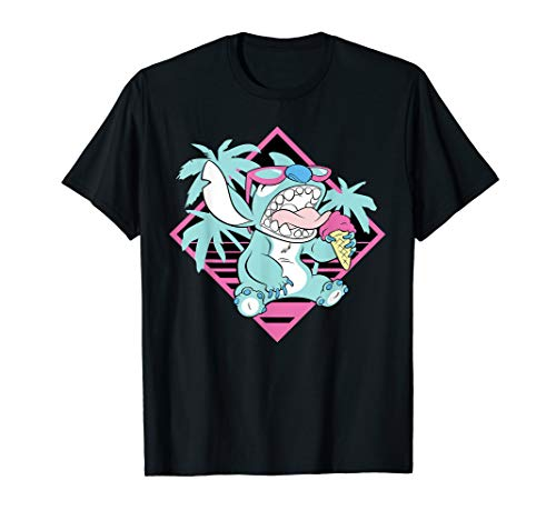 Disney Lilo & Stitch Ice Cream Retro 90s Beach T-Shirt