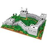Nwihac Adultos y niños con Great Wall Toy Set Construction Set Model Kits Mini Block 1719pcs, niños