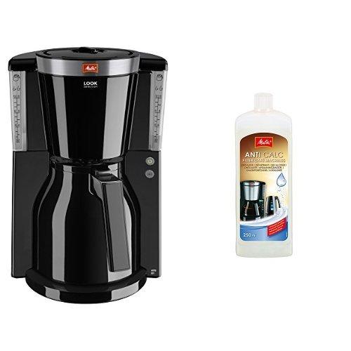 Melitta Kaffeefiltermaschine Look Therm Selection, Aromaselector, Kalkschutz, schwarz 101112 + Melitta 192618 Flüssigentkalker