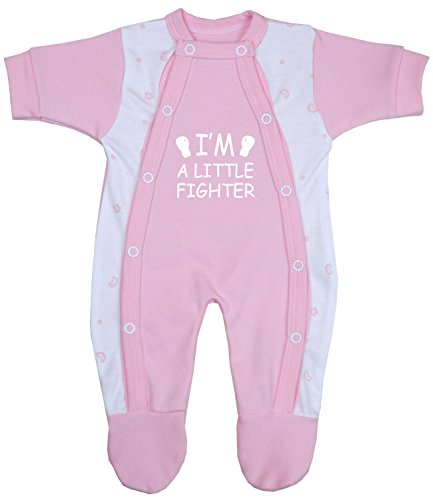 Babyprem Frühchen Baby Kleidung Schlafanzüge Strampler Kleine Kämpfer 44-50cm ROSA 2.5-3.4kg