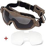 H World Shopping Fan Version Cooler Airsoft Glass Regulator Goggles Ski Snowboard Bike Sports (DE)