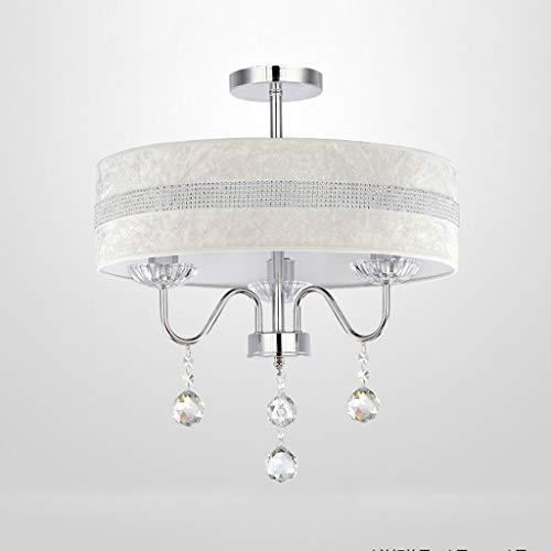 JYDQM Luz de Techo, Dormitorio de la lámpara del Techo de la Sala Moda-incrustado Semi cristalino del Montaje del Techo de la lámpara Pantalla de la Tela