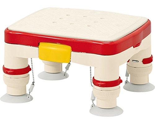 """安寿 高さ調節付浴槽台R""""かるぴったん""""ミニ ソフトクッションタイプ レッド 536-486 (アロン化成)"""