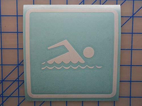 myrockshirt Schwimmen Piktogramm ca 20cm Aufkleber,Sticker,Decal,Autoaufkleber,UV&Waschanlagenfest,Profi-Qualität