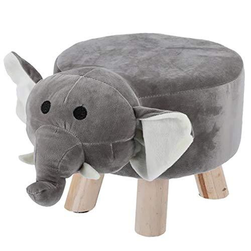 Bada Bing Kinderhocker Plüsch Elefant Grau H. Ca. 30 x D. Ca. 40 Kinder Hocker Gepolstert Mit Zuckersüßen Tiermotiv Deko Kinderzimmer Waschbarer Bezug Plüschhocker Holzbeinen Tierhocker Kinderstuhl 47