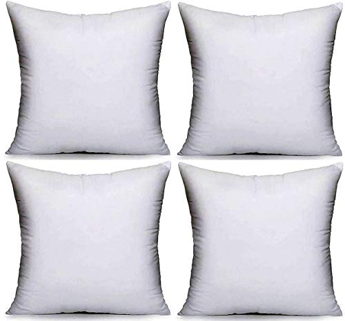 CnA Stores - 19' x 19' Inch Square Cushion Inner Hollowfibre Pads Anti - Allergy Pack of 4