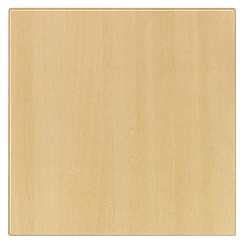 Werzalit Plus U595 carré Dessus de table, 700 mm x 700 mm x 30 mm Dimension, Planked Hêtre