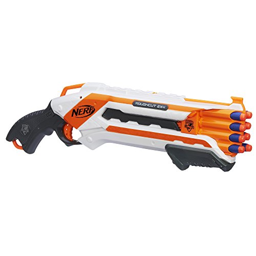 Nerf Rough Cut 2X4 Elite Blaster -- 8-Dart Capacity, Fires 2 Darts At Once -- Pump Action, Slam Fire -- Includes 8 Official Elite Darts