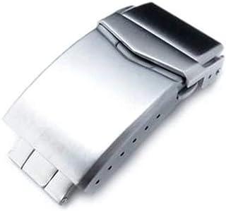 Chiusura con cinturino per cinturino Cinturino 18mm, 20mm o 22mm Chiusura a V in acciaio inossidabile Doppio pulsante di c...