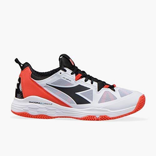 Diadora Men Speed Blushield Fly 2 Clay Tennis Shoes Clay Court Shoe White - Black 7,5