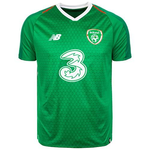 New Balance Herren Republik Irland Heim Kurzarm Trikot L Jolly Green