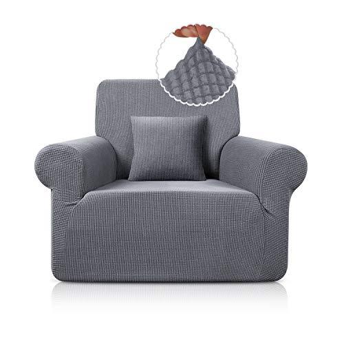 TAOCOCO Sofabezug / Sofabezug, rutschfest, elastisch, waschbar, milbendicht, knitterfrei, Hellgrau, 78 x 116 cm