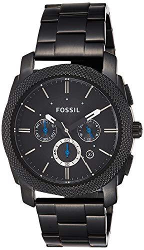 Fossil Herren Chronograph Quarz Uhr mit Edelstahl beschichtet Armband FS4552