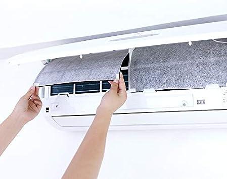 Filtro para aire acondicionado 2PC Aire Acondicionado viento Outlet Protección a prueba de polvo cubierta de bricolaje Auto-Adhesión de purificación de aire Filtro de pantalla de papel de filtro purif