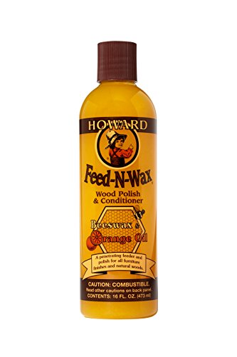 Howard Products FW0016 Wood Polish amp Conditioner 16 oz Orange 16 Fl Oz