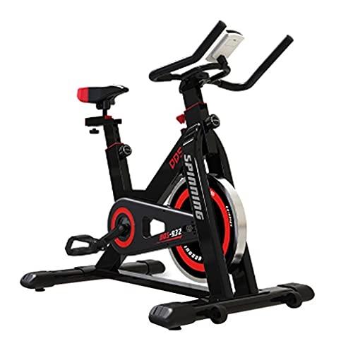 Bicicleta Estática para Interiores Bicicleta Giratoria Manillar Ajustable Y Asiento Bicicleta Estática para El Hogar Soporte para Tableta Carga 150 Kg (Color : Black, Size : 102 * 52.5 * 116cm)
