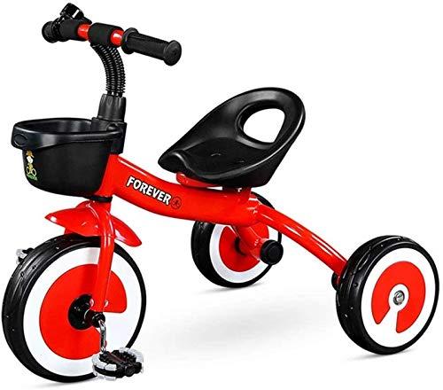 Triciclo de bebé Cochecito para niños pequeños, Triciclo deportivo para niños con asiento móvil, Cochecito de bebé, Cochecito de juguete para jardín de infantes, Bicicleta de pedales, Carga máxima de