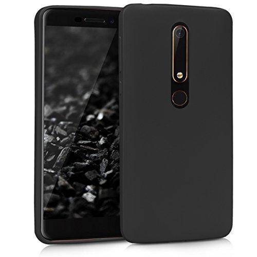 kwmobile Hülle kompatibel mit Nokia 6.1 (2018) - Handyhülle - Handy Hülle in Schwarz matt