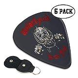 モーターヘッド Motorhead ギターピック 6枚/セット ウクレレ エレキギター 3種厚さ プリントデザイン ファッション 目立ち バリ無し 尖らず