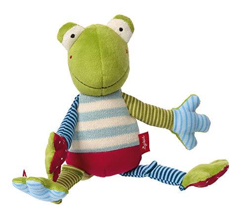 sigikid, Mädchen und Jungen, Stofftier, Mini Frosch, Patchwork Sweety, Mehrfarbig, 38999