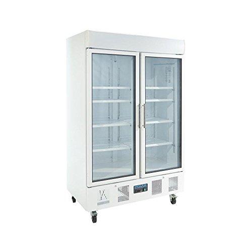Polar CD984cristal doble puerta pantalla frigorífico, 944L