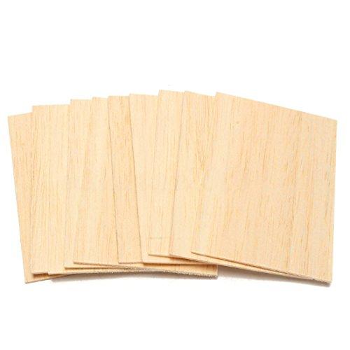 Gaoominy, 10 fogli di legno di balsa, 150 x 100 x 2 mm, per la casa, il modello, fai da te