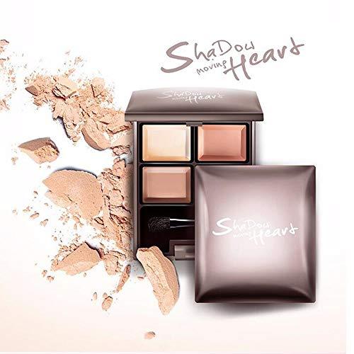 TQ Glamour Girl Makeup Kit - 4 Sombras De Ojos Matte Glitter Pigment Eye Texture Shadow Beauty Makeup