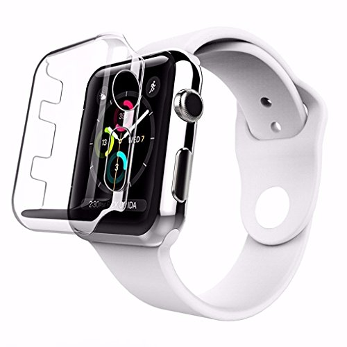 PCSG Clear Case Cover for Apple Watch 38mm 42mm 40mm 44mm All Round Protective Touch Screen Ultra Thin Case Series 1, 2, 3, 4, 5 and 6 (38mm Series 3)