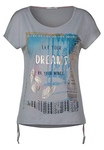 Cecil Damen T-Shirt mit Ethno-Frontprint cool Silver XXL