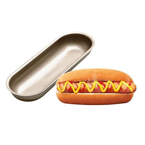 Hot Dog Form Langbrot Hotdog-förmige Kuchenform antihaftbeschichtet Toast Backform Backform für Zuhause und Küche (1)