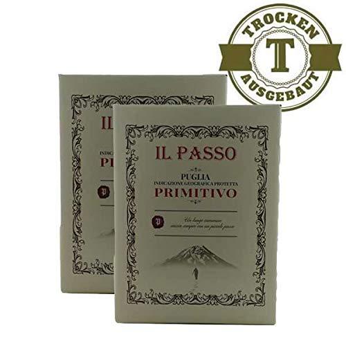 Rotwein Italien Primitivo Il Passo Puglia Bag in Box trocken (2x5,0L)