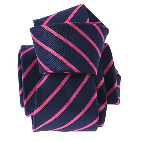 Clj Charles Le Jeune. Cravate. RUGBY, Microfibre. Bleu, Club/rayé.