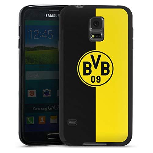 DeinDesign Silikon Hülle kompatibel mit Samsung Galaxy S5 Neo Case schwarz Handyhülle BVB Borussia Dortmund Wappen
