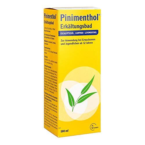 Pinimenthol® Erkältungsbad – Der Klassiker bei Erkältung – Mit wirksamen ätherischen Ölen – Für Erwachsene und Heranwachsende ab 12 Jahren – 190 ml